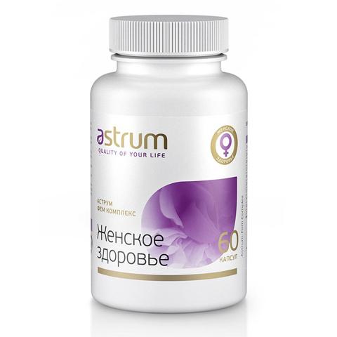 Astrum БАДы: Биодобавка Аструм Фем Комплекс (Женское здоровье), 60капсул