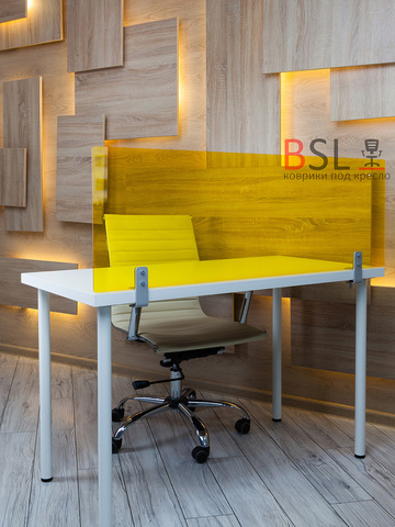 Экран на струбцинах (01 серые) желтый прозрачный Ш. 1000мм