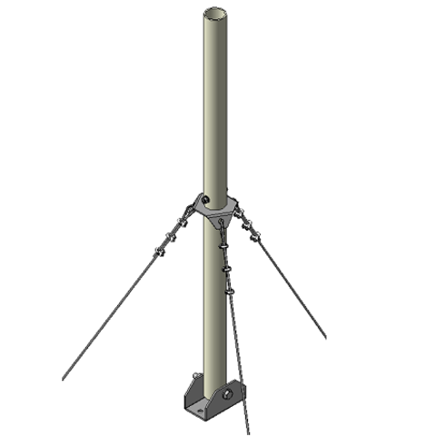 Мачта трубостойка алюминиевая  RADIAL MA-9R