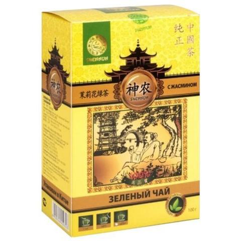 Чай зеленый Shennun с жасмином крупнолистовой 100г
