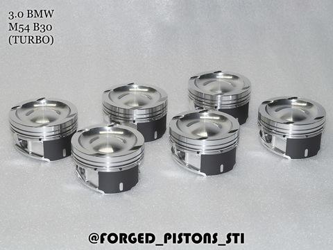 Поршни СТИ BMW 3,0l M54B30 ТУРБО (CR=8,2) кольца 1,5/1,5/2,0