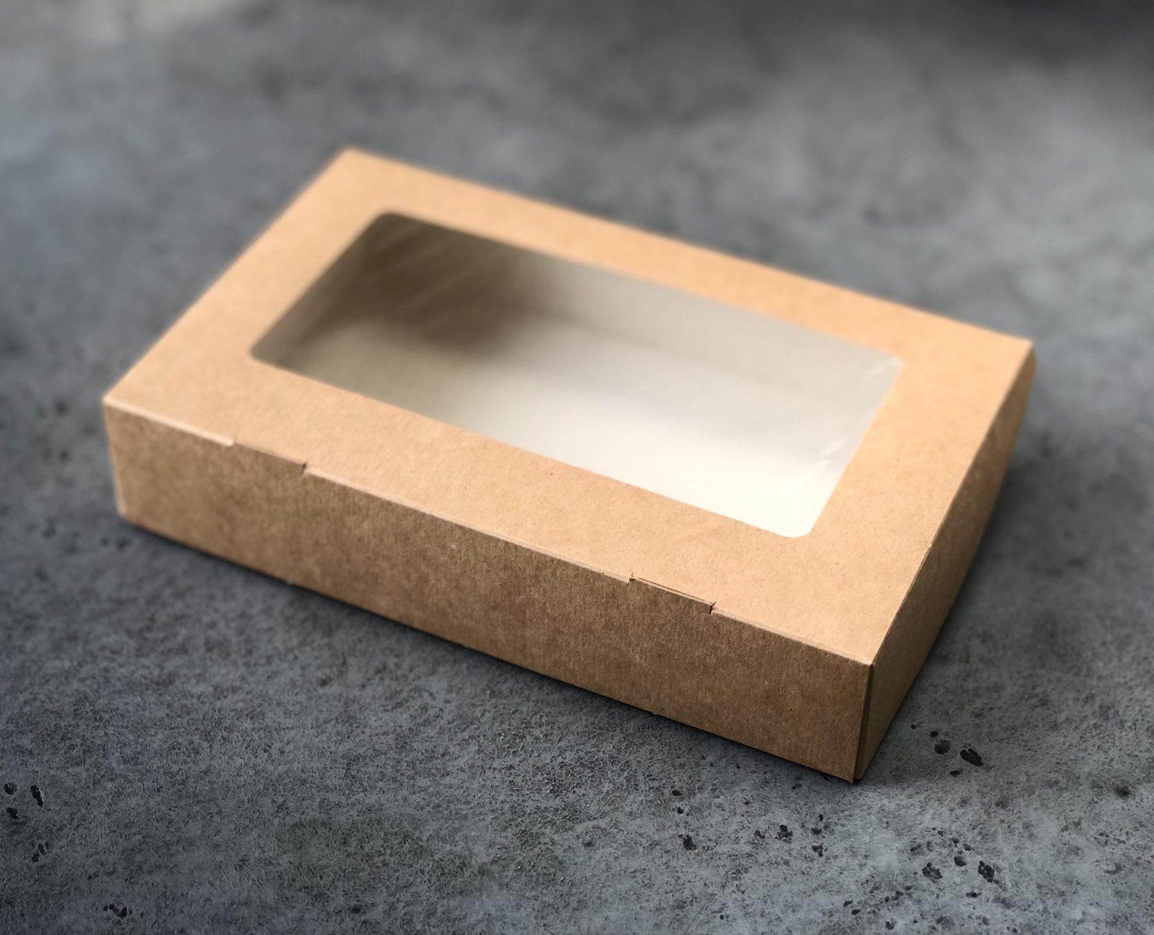 Коробка для макаронс КРАФТ, 20х12х4 см