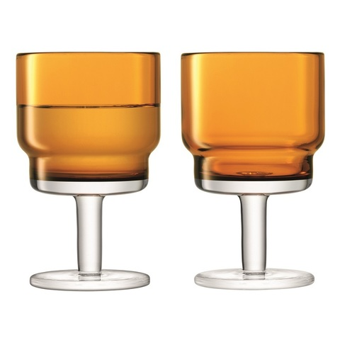 Набор из 2 бокалов для вина Utility, 220 мл, охра