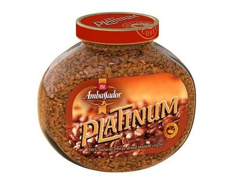 Кофе растворимый Ambassador Platinum, 95 г