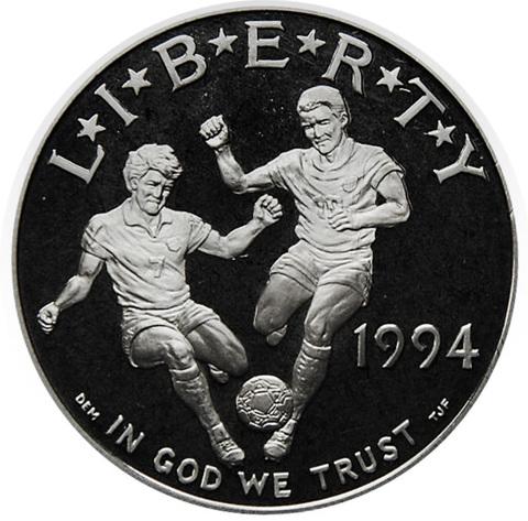 1 доллар США Чемпионат мира по футболу S 1994 год PROOF