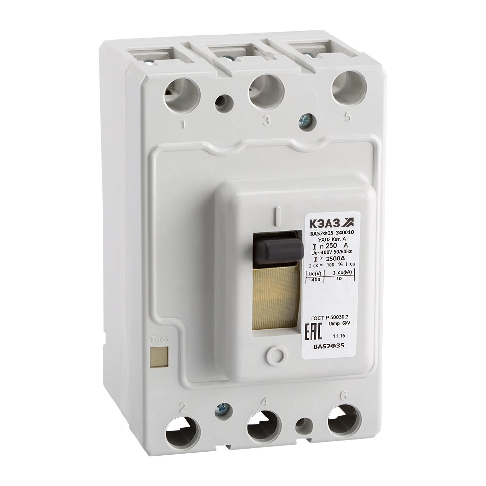 Выключатель автоматический ВА57Ф35-340010-25А-250-400AC-УХЛ3-КЭАЗ