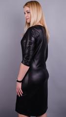 Аріна м/ш. Стильна сукня великих розмірів для жінок. Чорний.