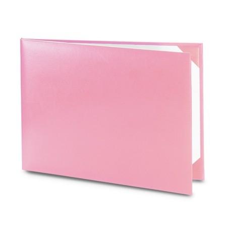 Обложка / корочка «Колор» для диплома или сертификата (розовая)