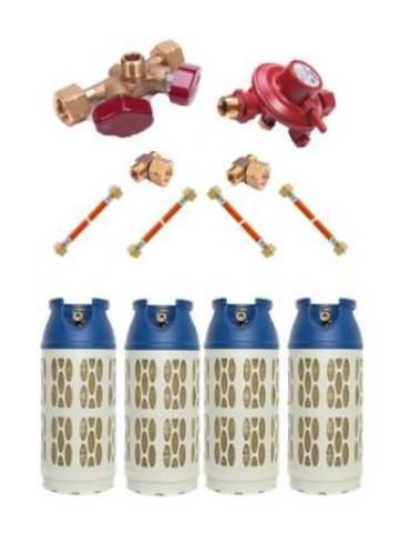 Газобаллонная система GOK (эконом) для подключения 4 композитных баллонов