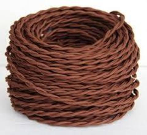 Провод витой 2х1,5 коричневый