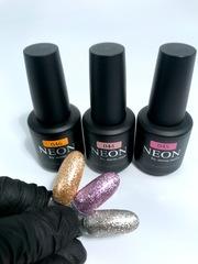 NEON, гель-лак Pink foil № 045 , (12ml) розовый с эффектом фольги