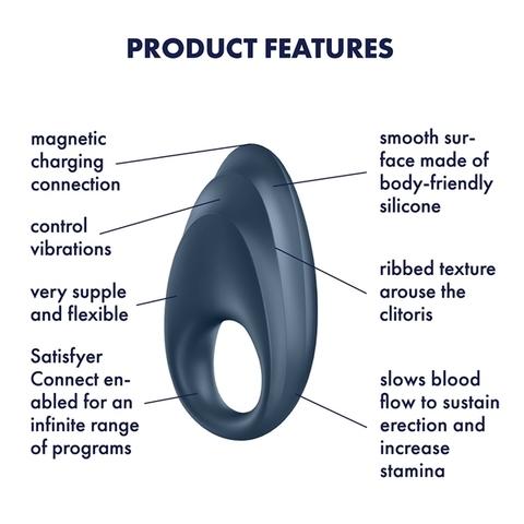 Satisfyer Powerful One Эрекционное кольцо с возможностью управления через приложение