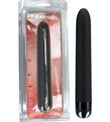 Чёрный водонепроницаемый вибратор - 17 см.
