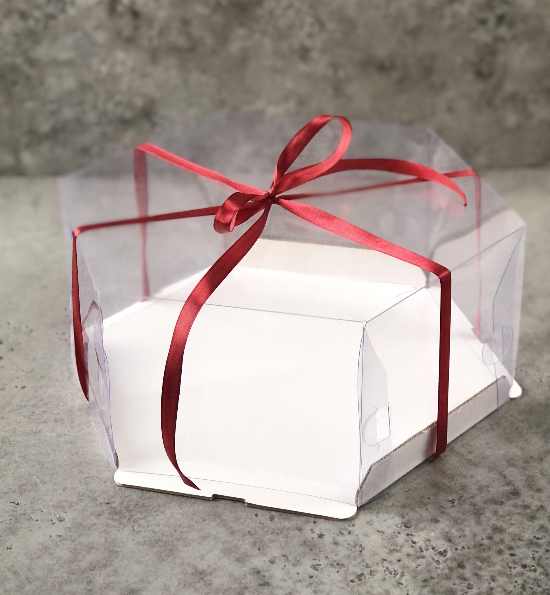 Коробка прозрачная для торта «Шестигранник», 24х24х12 см