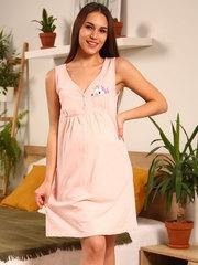 Мамаландия. Сорочка для беременных и кормящих с лифом на кнопках, единорог/светло-розовый