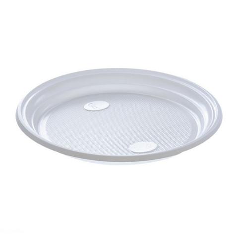 Тарелка одноразовая d-205мм, белая, ПС 10шт/уп
