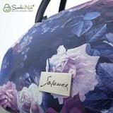 Сумка Саломея 278 розы на синем