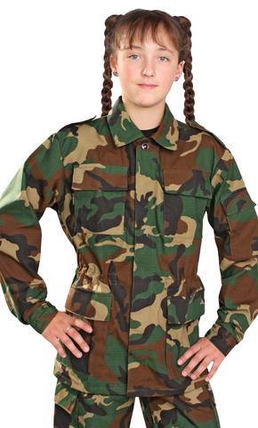 Костюм детский военно-полевой Рип-стоп зел. КМФ