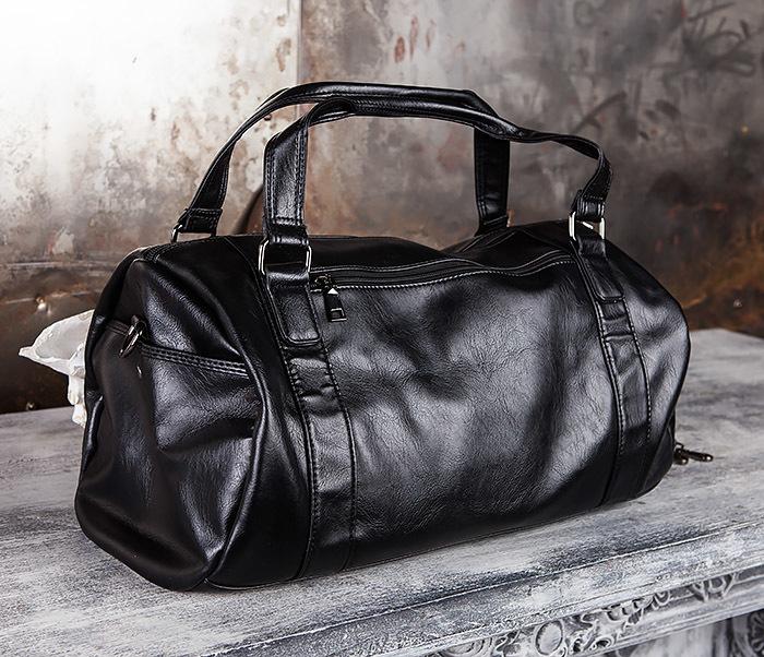BAG429-1 Крутая кожная сумка - туба с ремнем на плечо