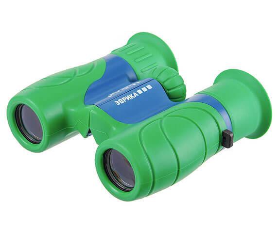 Сине-зеленый детский бинокль veber эврика 6x21