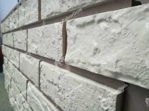 Фасадная панель Альта Профиль Кирпич Белый 1140х480 мм