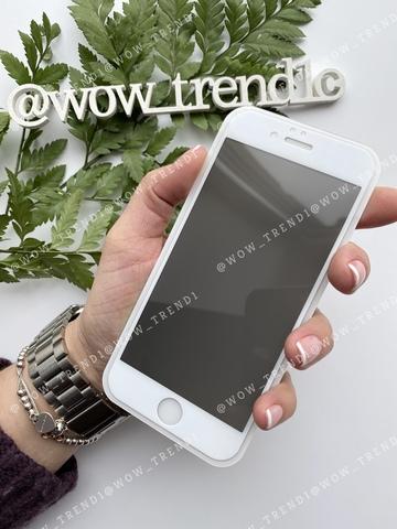 Стекло защитное iPhone 6/6S 2,5D White Privacy Антишпион