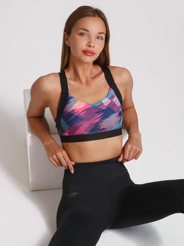 Спортивное бра женское для йоги и фитнеса Abstraction