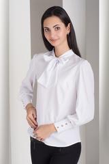 Маркіза. Красива блуза з бантом. Білий