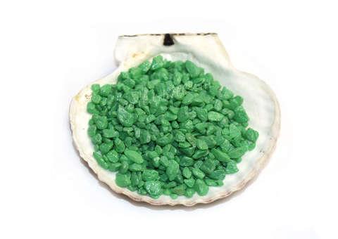 Грунт декоративный зелёный 0,5 -1,2 см.