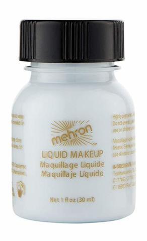 MEHRON Жидкий грим Liquid Makeup, Moonlight White (Лунный свет), 30 мл