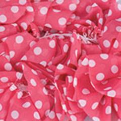 153 ( розовый коралл в белый горох)