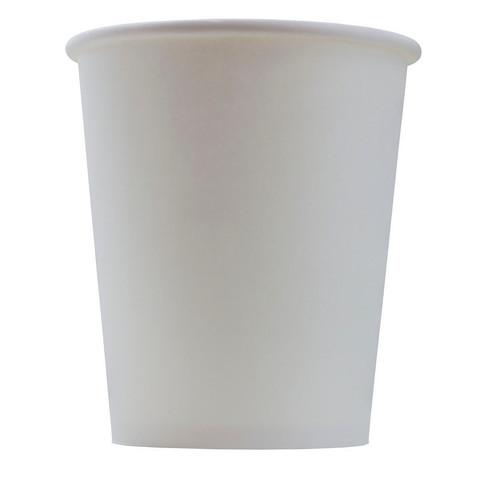 Стакан одноразовый Эконом бумажный белый 250 мл 50 штук в упаковке