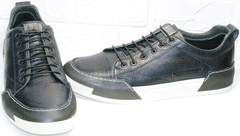 Кэжуал кеды мужские кроссовки весна осень Luciano Bellini C6401 TK Blue.