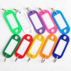 Бирки для ключей пластиковая, ассорти, 200шт./уп