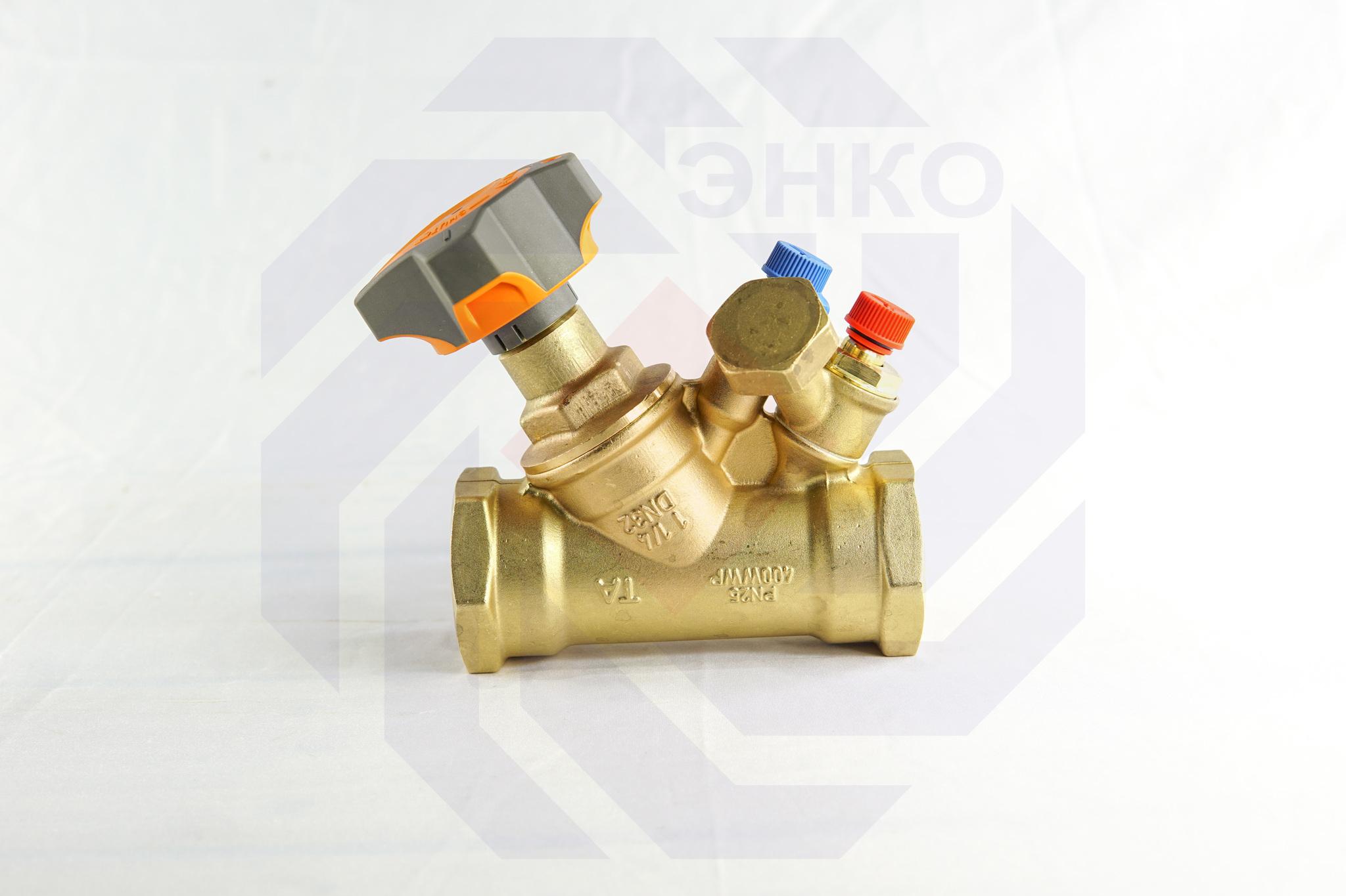 Клапан балансировочный IMI STAD с дренажем DN 32