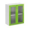 София ШВС600 Шкаф верхний со стеклом 600мм (фасад: салатовый)