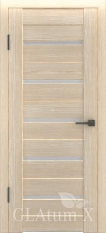 Дверь GreenLine X-7, стекло белое, цвет капучино, остекленная