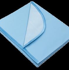 Колорит. Клеенка в коляску ПВХ с окантовкой цветная 50х70 см, голубой вид 1