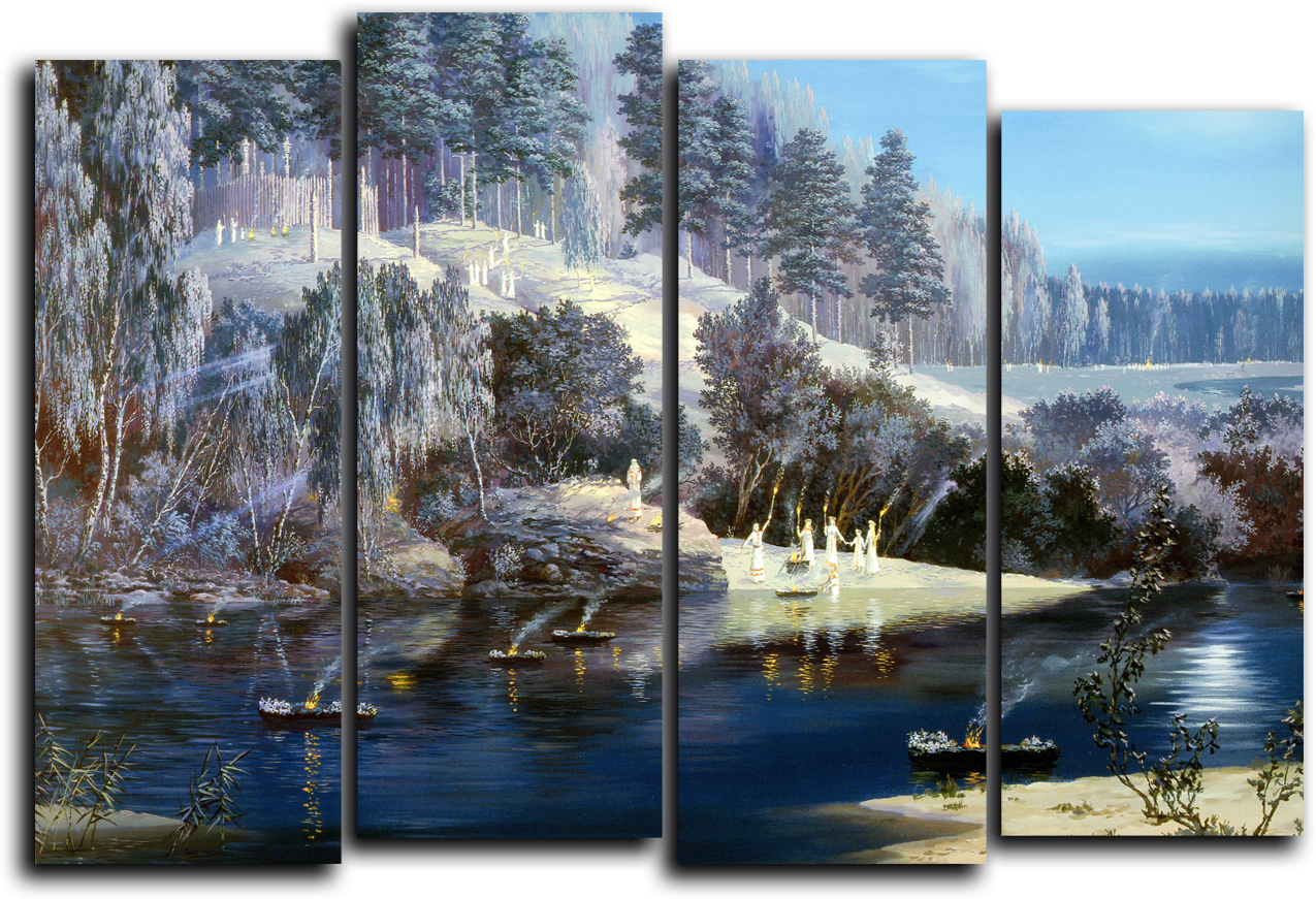 "Природа Модульная картина ""Зима"" М780.png"