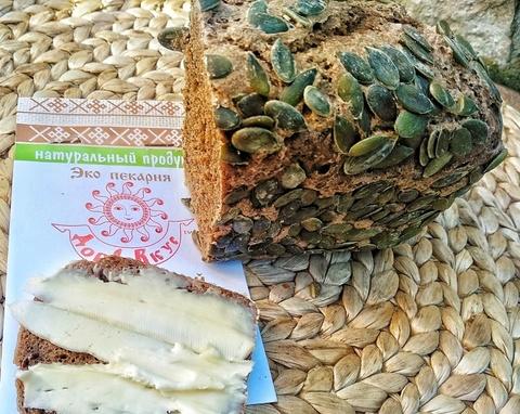 Фотография Хлеб ржаной на закваске «Богатырь» / 330-350 гр купить в магазине Афлора