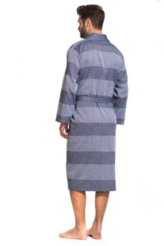Легкий мужской халат из органического хлопка 417 PÊCHE MONNAIE