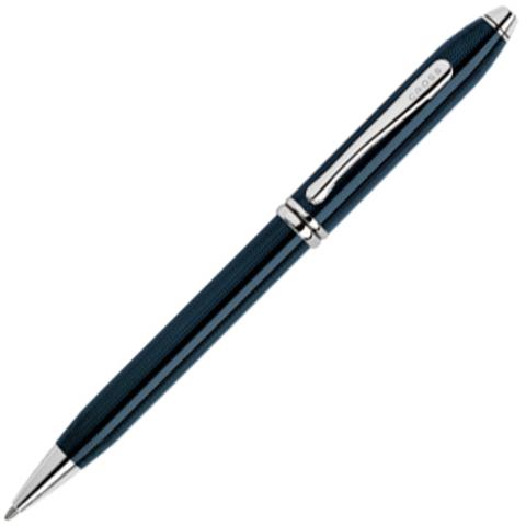 Cross Townsend - Quartz Blue Lacquer, шариковая ручка, M, BL