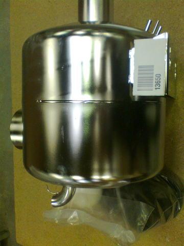 13650 Ресивер вакуумный 32 л 4х50-1х63 мм в комплекте