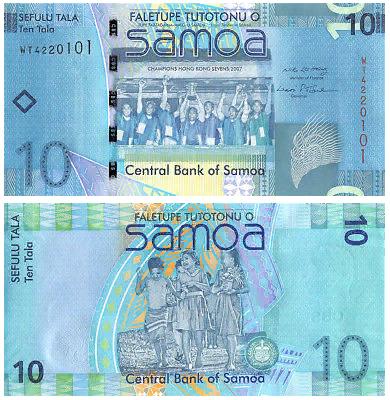 Банкнота 10 тала 2008 год, Самоа. UNC