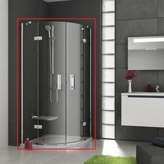 Душевой уголок с распашными дверями 80х80х190 см Ravak Smartline SMSKK4-80 3S244A00Y1 фото