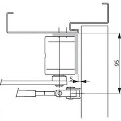 Угловая монтажная пластина A122 для доводчика DC-200 ASSA ABLOY