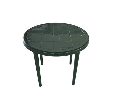 Cтол пластиковый круглый тёмно-зелёный