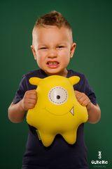 Подушка-игрушка антистресс Gekoko «Монстрик желтый» 1