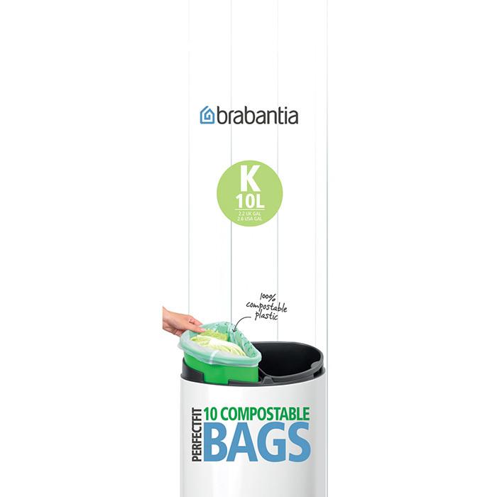 Биоразлагаемые мешки для мусора PerfectFit, размер К (10 л), 10 шт., арт. 364983 - фото 1