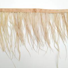 Тесьма  из перьев страуса h 10-15 см., беж